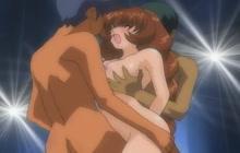 Hentai girl DPed in threesome